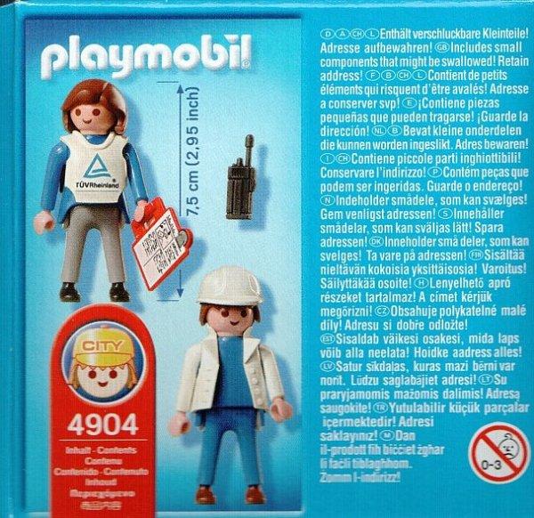 Playmobil 4904-ger - Industrial auditors - Back