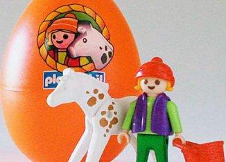 Playmobil - 4911v4 - Orange Egg Girl with Horse