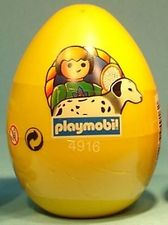 Playmobil - 4916v4-esp-usa - Yellow Egg Boy with Dalmatian