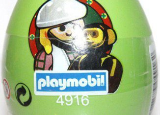 Playmobil - 4916v1-esp-usa - Green Egg Vet with Chimpanzee