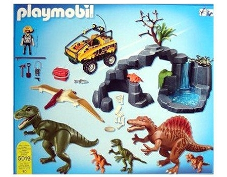 Playmobil 5019-ger - Dino Expedition with Amphibious Vehicle - Back