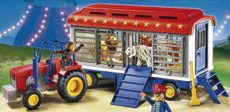 Playmobil - 5022-ger - Circus Tractor with Animal Cage Wagon