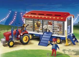 Playmobil - 5022-ger - tracteur et remorque des fauves