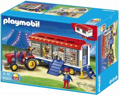 Playmobil 5022-ger - Circus Tractor with Animal Cage Wagon - Box