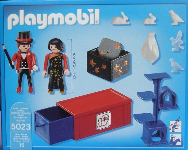 Playmobil 5023-ger - Circus Magician Act - Back
