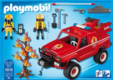 Playmobil 5616-usa - Fire terrain truck - Back
