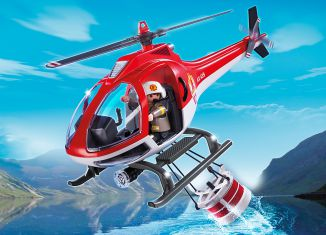 Playmobil - 5617-usa - Forest fire helicopter