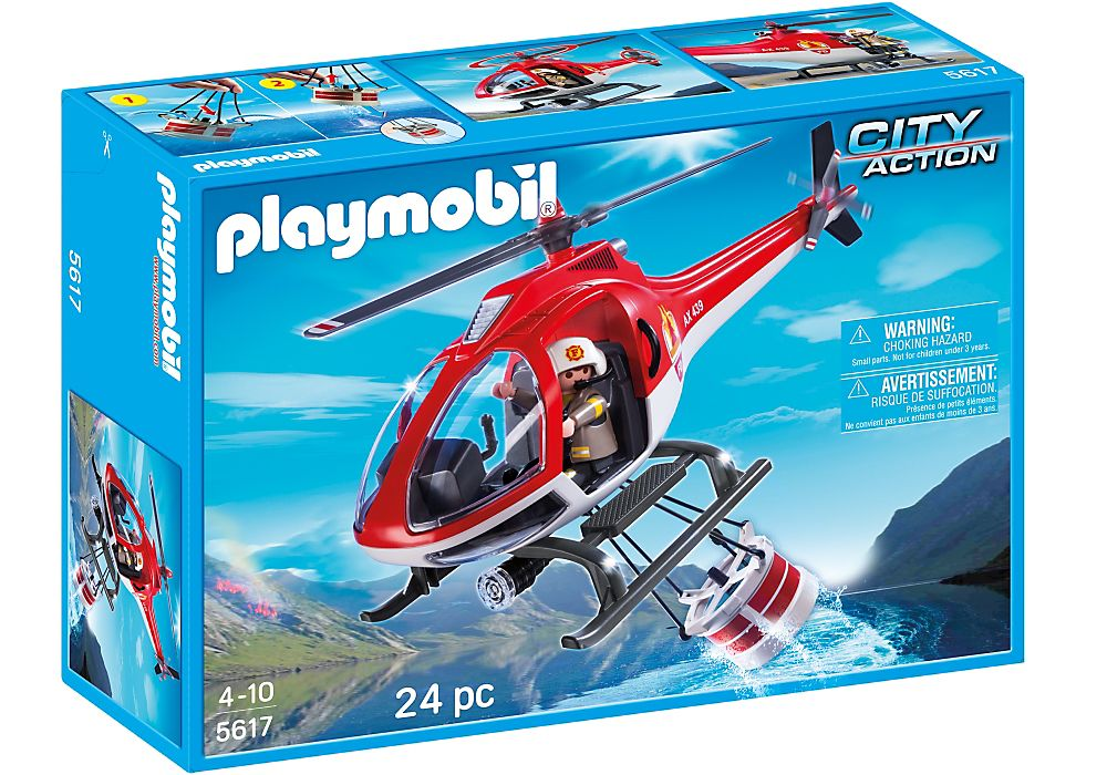 Playmobil 5617-usa - Forest fire helicopter - Box