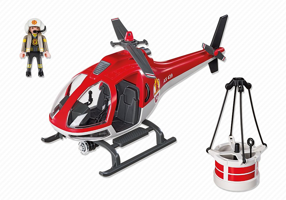 Playmobil 5617-usa - Forest fire helicopter - Back