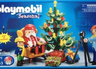 Playmobil - 5753-usa - Photo with Santa Claus