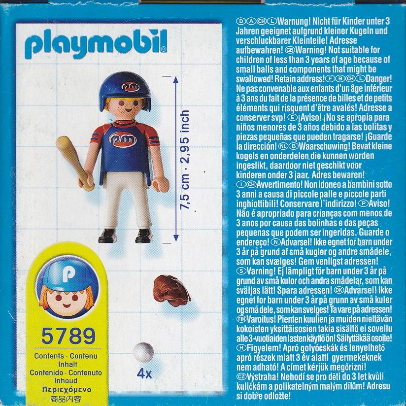 Playmobil 5789-usa - Baseball Player - Back