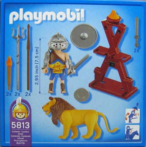 Playmobil 5813-usa - Gladiator with Lion - Back