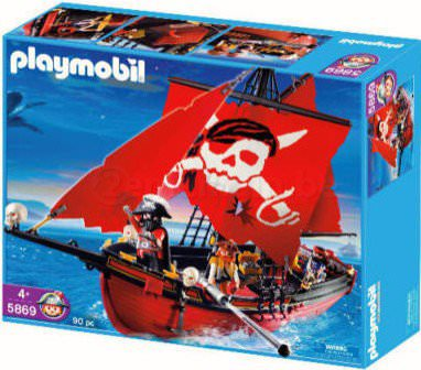 Playmobil 5869-usa - red corsair - Box