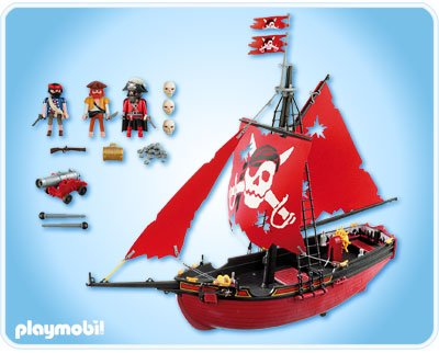 Playmobil 5869-usa - red corsair - Back