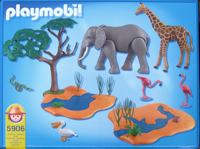 Playmobil 5906 - Wildlife water standpost - Back