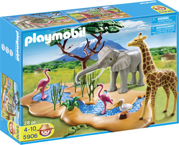 Playmobil 5906 - Wildlife water standpost - Box
