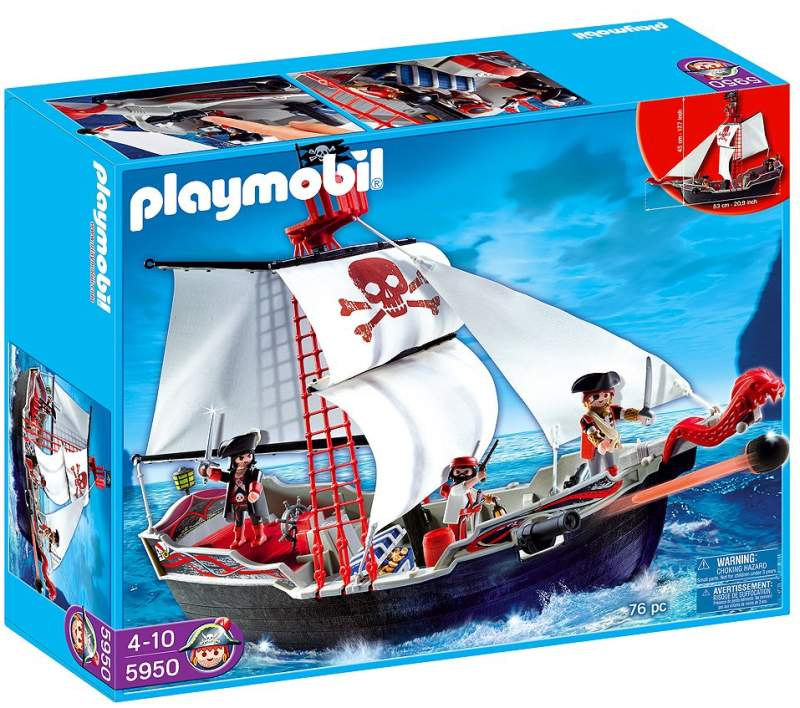 Playmobil 5950-usa - skull and bones pirate ship - Box