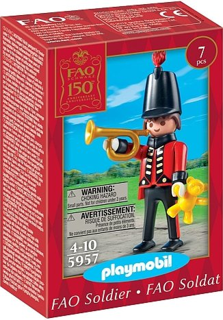 Playmobil 5957-usa - FAO Schwarz 150th Anniversary Toy Soldier - Box