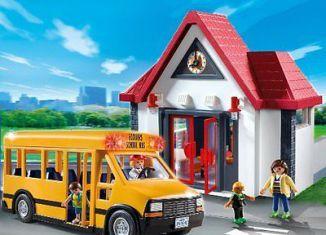 Playmobil - 5989 - School and Schoolbus