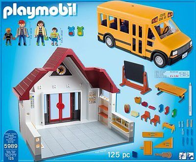 Playmobil 5989 - School and Schoolbus - Back