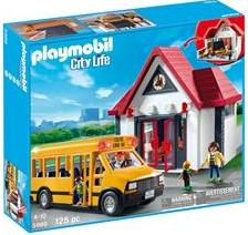 Playmobil 5989 - School and Schoolbus - Box