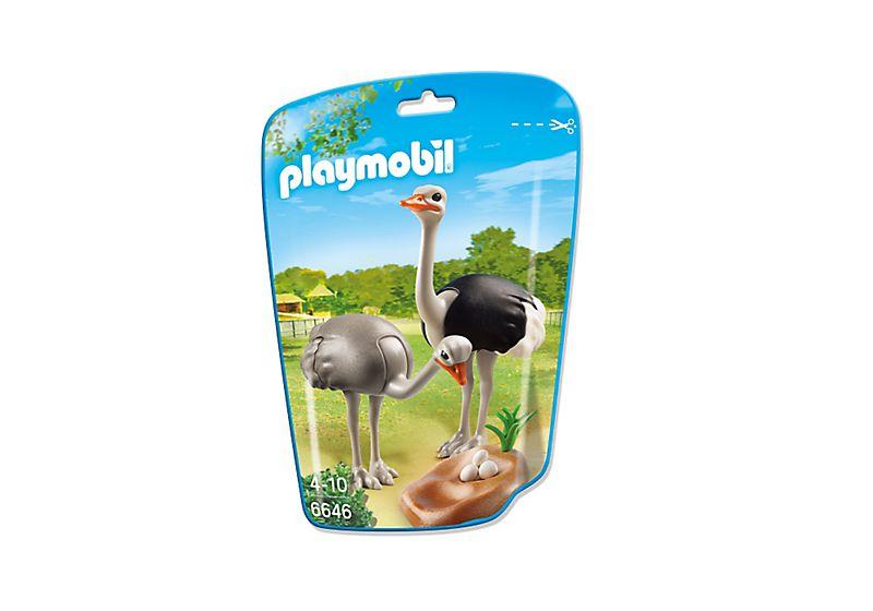 Playmobil 6646 - Ostrich Couple with Nest - Box