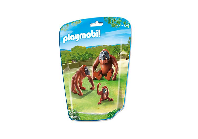 Playmobil 6648 - 2 Orangutans with baby - Box