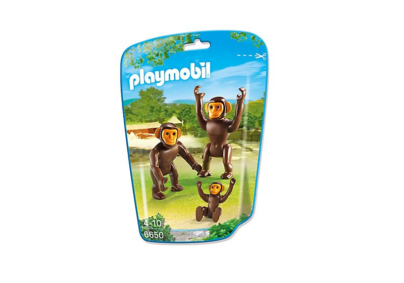 Playmobil 6650 - 2 chimpanzees with baby - Box