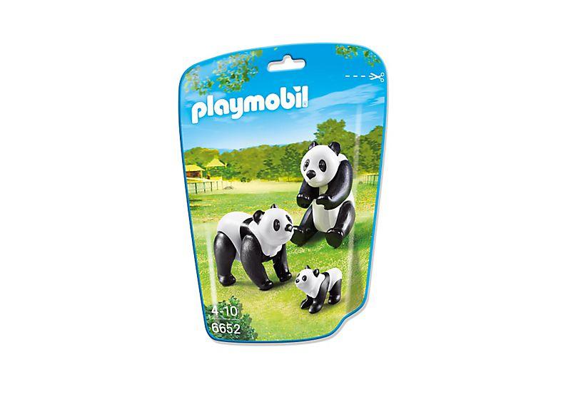 Playmobil 6652 - 2 Pandas with Baby - Box