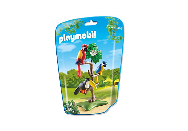 Playmobil 6653 - Parrots and toucans in the tree - Box