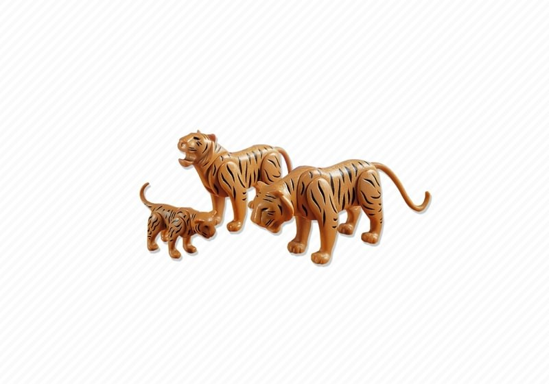 Playmobil 7037 - 2 Tigers with Cub - Back