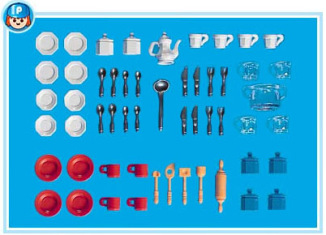 Playmobil - 7048 - Dollhouse Dishes