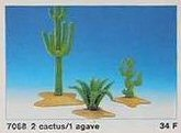 Playmobil - 7068 - 2 cactus / 1 fern