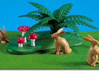 Playmobil - 7075 - Fern, Toadstool, 3 Hares