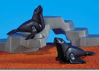Playmobil - 7203 - 2 Seals With Rock Form