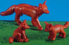 Playmobil - 7264 - Fox With 2 Kits