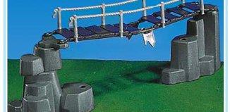 Playmobil - 7271 - suspension bridge + rocks / grey