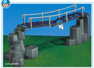 Playmobil - 7271 - suspension bridge + rocks / grey