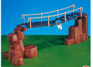 Playmobil - 7272 - suspension bridge + rocks / red-brown