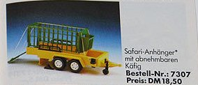 Playmobil - 7307 - Trailer with Animal Cage