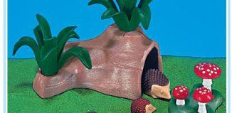 Playmobil - 7343 - Familia de erizos con cueva