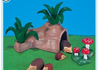 Playmobil - 7343 - Hedgehog Family With Cave