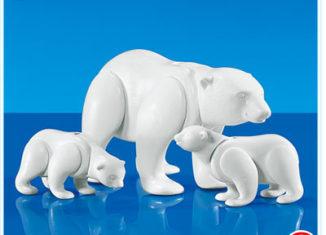 Playmobil - 7580 - Polar Bear w/2 Cubs