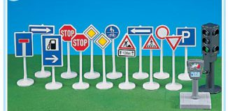Playmobil - 7696 - Traffic signs with traffic light
