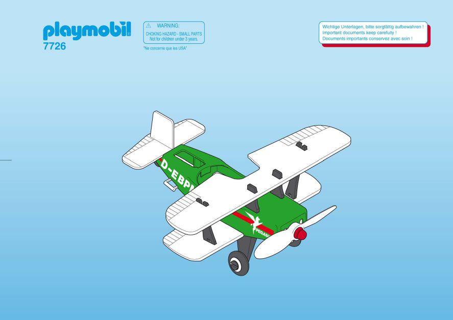 Playmobil 7726 - Biplane Pegasus - Back
