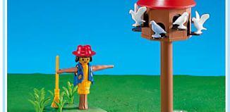 Playmobil - 7752 - Pigeon Loft and Scarecrow