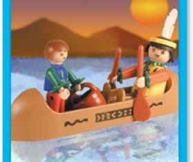 Playmobil - 9607-ant - Indian Canoe
