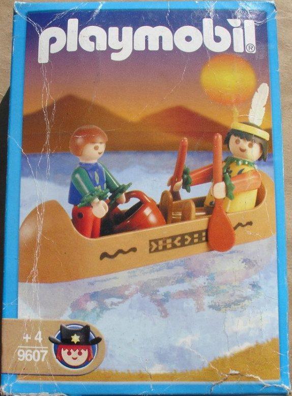 Playmobil 9607-ant - Indian Canoe - Box