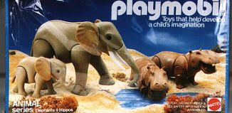 Playmobil - 9810-mat - Elephants & Hippos