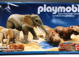 Playmobil - 9810-mat - Elephants & Hippos